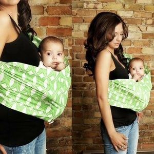 Seven Everyday Slings Green Vibe Baby Carrier Sz 4